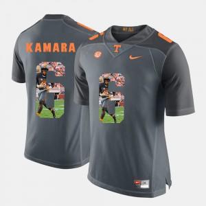 University Of Tennessee #6 For Men Alvin Kamara Jersey Grey Pictorial Fashion High School 325393-445