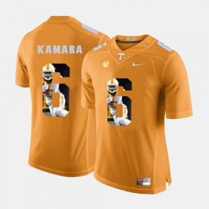 TN VOLS #6 Men's Alvin Kamara Jersey Orange Pictorial Fashion Stitched 804176-696