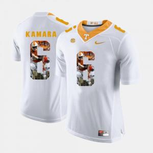 Vols #6 Men's Alvin Kamara Jersey White Embroidery Pictorial Fashion 426708-255