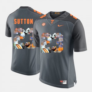 TN VOLS #23 Men's Cameron Sutton Jersey Grey NCAA Pictorial Fashion 791287-577