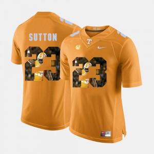 TN VOLS #23 Men Cameron Sutton Jersey Orange College Pictorial Fashion 408841-957