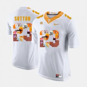 Vols #23 Mens Cameron Sutton Jersey White Stitched Pictorial Fashion 869956-837