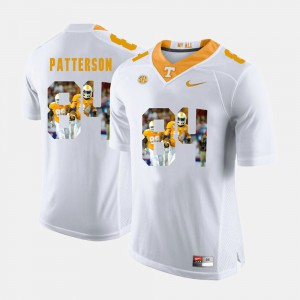 University Of Tennessee #84 Mens Cordarrelle Patterson Jersey White Stitched Pictorial Fashion 572550-425