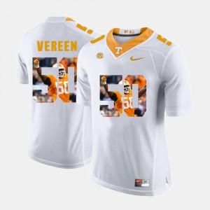 UT Volunteer #50 For Men Corey Vereen Jersey White Official Pictorial Fashion 739915-227