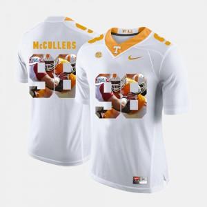 TN VOLS #98 Men Daniel McCullers Jersey White Pictorial Fashion College 749283-399