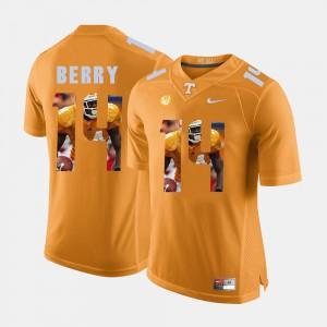 UT #14 Men Eric Berry Jersey Orange Pictorial Fashion High School 987696-723