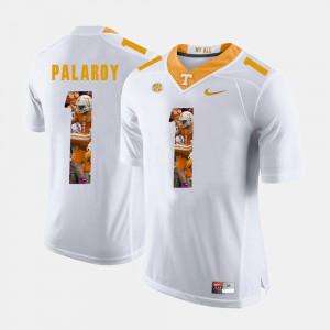 UT Volunteer #1 Men Michael Palardy Jersey White Pictorial Fashion Stitch 792461-515