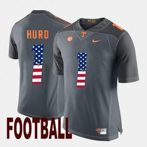 Tennessee #1 Men's Jalen Hurd Jersey Gray Player US Flag Fashion 794879-969