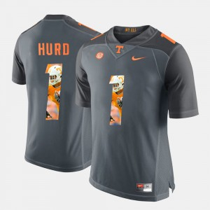 Tennessee Vols #1 Men Jalen Hurd Jersey Grey Embroidery Pictorial Fashion 175771-637
