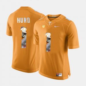 Tennessee #1 Men Jalen Hurd Jersey Orange Embroidery Pictorial Fashion 636787-851