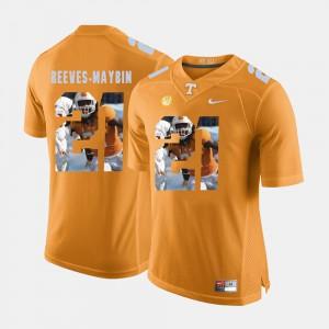UT VOLS #21 Mens Jalen Reeves-Maybin Jersey Orange Stitch Pictorial Fashion 591156-646
