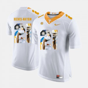 University Of Tennessee #21 For Men's Jalen Reeves-Maybin Jersey White NCAA Pictorial Fashion 384700-203