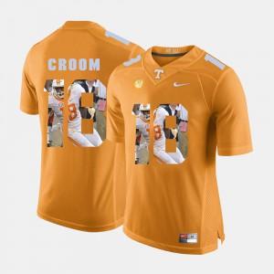 TN VOLS #18 Men's Jason Croom Jersey Orange Pictorial Fashion Player 498107-618