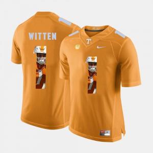 UT Volunteer #1 Mens Jason Witten Jersey Orange Stitched Pictorial Fashion 659914-878