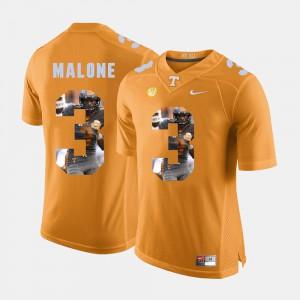 TN VOLS #3 Men Josh Malone Jersey Orange High School Pictorial Fashion 464502-722
