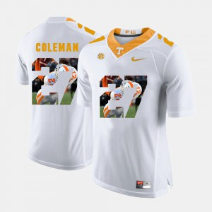Tennessee #27 For Men's Justin Coleman Jersey White High School Pictorial Fashion 705187-787
