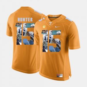UT Volunteer #15 Mens Justin Hunter Jersey Orange Pictorial Fashion Stitch 580374-561