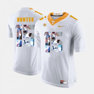 UT VOL #15 For Men Justin Hunter Jersey White High School Pictorial Fashion 165383-773