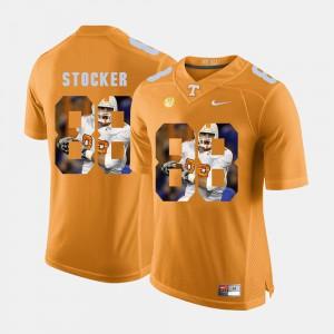 UT #88 For Men's Luke Stocker Jersey Orange Official Pictorial Fashion 417276-814