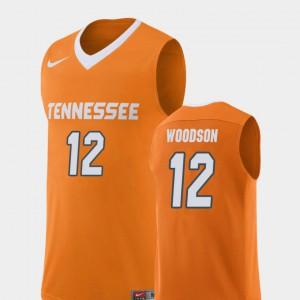 Tennessee #12 Men Brad Woodson Jersey Orange Stitched Replica College Basketball 950697-495