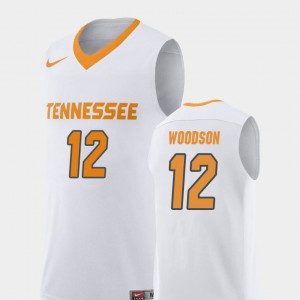 UT VOL #12 For Men Brad Woodson Jersey White College Replica College Basketball 581449-595