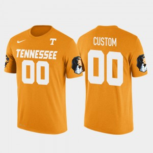 UT Volunteer #00 For Men's Customized T-Shirts Orange Cotton Football Future Stars High School 654316-321