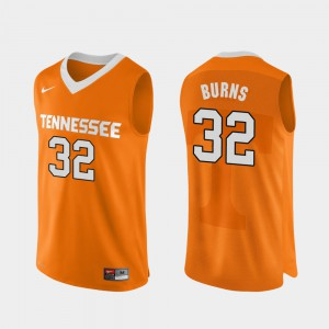 Tennessee Vols #32 For Men's D.J. Burns Jersey Orange College Basketball Authentic Performace Stitch 740813-165