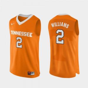 UT Volunteer #2 Mens Grant Williams Jersey Orange Player College Basketball Authentic Performace 781833-815