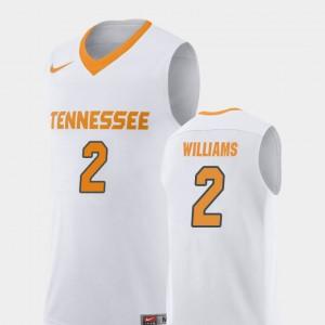 UT Volunteer #2 Men Grant Williams Jersey White University Replica College Basketball 667899-127