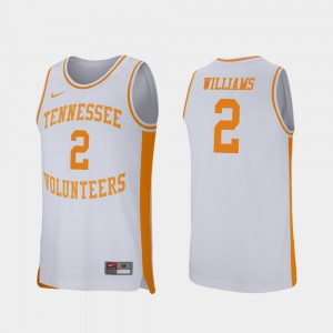 University Of Tennessee #2 For Men's Grant Williams Jersey White Player College Basketball Retro Performance 592099-734