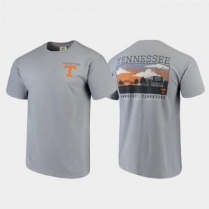 Vols For Men T-Shirt Gray NCAA Campus Scenery Comfort Colors 973530-960