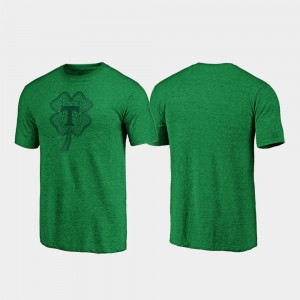 Tennessee Mens T-Shirt Green Embroidery St. Patrick's Day Celtic Charm Tri-Blend 590197-251
