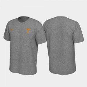 UT VOLS Mens T-Shirt Heathered Gray University Left Chest Logo Legend 874265-992