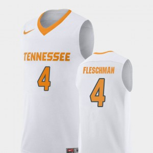 UT VOL #4 For Men Jacob Fleschman Jersey White College Basketball Replica Stitch 264484-177