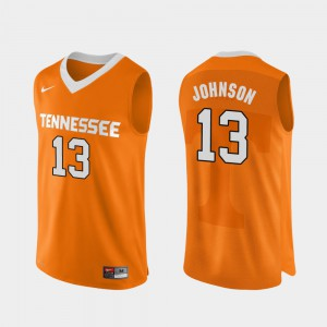 Tennessee Vols #13 For Men Jalen Johnson Jersey Orange College Basketball Authentic Performace Embroidery 598646-830