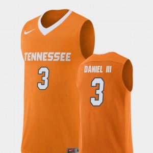 VOL #3 Men's James Daniel III Jersey Orange College Basketball Replica Embroidery 973843-383