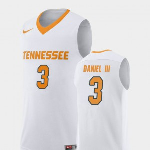University Of Tennessee #3 Mens James Daniel III Jersey White Player Replica College Basketball 179453-538