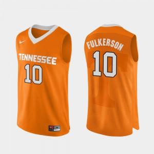 TN VOLS #10 Men's John Fulkerson Jersey Orange NCAA Authentic Performace College Basketball 543683-277