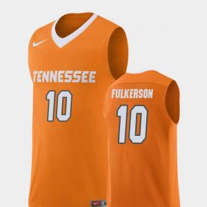 TN VOLS #10 For Men's John Fulkerson Jersey Orange Alumni College Basketball Replica 119407-574
