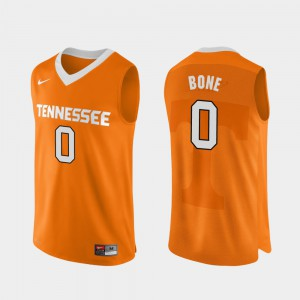 Tennessee Vols #0 Mens Jordan Bone Jersey Orange Stitched College Basketball Authentic Performace 241199-935