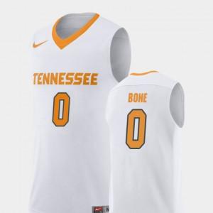UT #0 Men Jordan Bone Jersey White College Basketball Replica University 960818-650