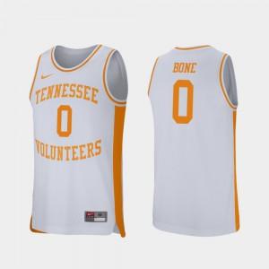 Tennessee #0 Men Jordan Bone Jersey White NCAA College Basketball Retro Performance 440797-491