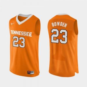 Vols #23 Men Jordan Bowden Jersey Orange Alumni College Basketball Authentic Performace 587095-688
