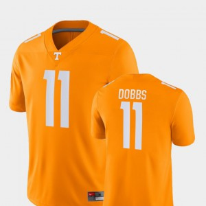 UT #11 Men's Joshua Dobbs Jersey Orange Stitched College Football Game 383453-955