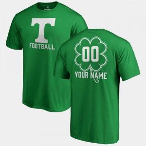 Tennessee #00 Men's Customized T-Shirt Kelly Green Stitch St. Patrick's Day Fanatics Big & Tall Dubliner 599102-486