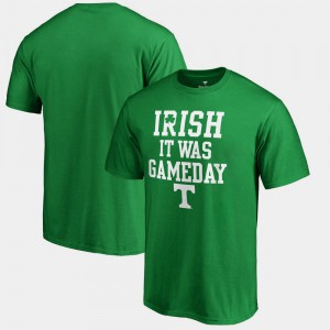 VOL Men's T-Shirt Kelly Green Embroidery Irish It Was Gameday St. Patrick's Day 960863-119