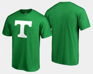University Of Tennessee For Men T-Shirt Kelly Green White Logo Big & Tall St. Patrick's Day College 765501-590