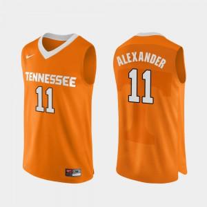 UT VOL #11 Men's Kyle Alexander Jersey Orange Player Authentic Performace College Basketball 836581-352