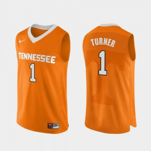 TN VOLS #1 For Men's Lamonte Turner Jersey Orange College Basketball Authentic Performace Official 642835-531