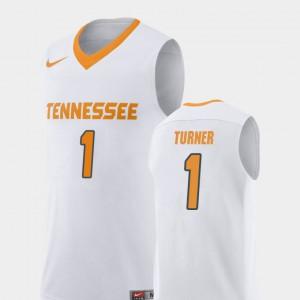 TN VOLS #1 Mens Lamonte Turner Jersey White Stitch College Basketball Replica 826999-705
